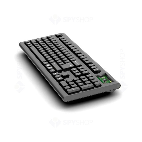 Keylogger ascuns in tastatura USB AirDrive KL02, 16 MB, WiFi, Email, Streaming