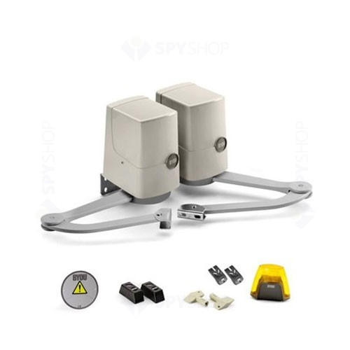 Kit automatizare poarta batanta BYOU PRETTY, 180 Kg/canat, 1.8 m/canat, 230 Vac