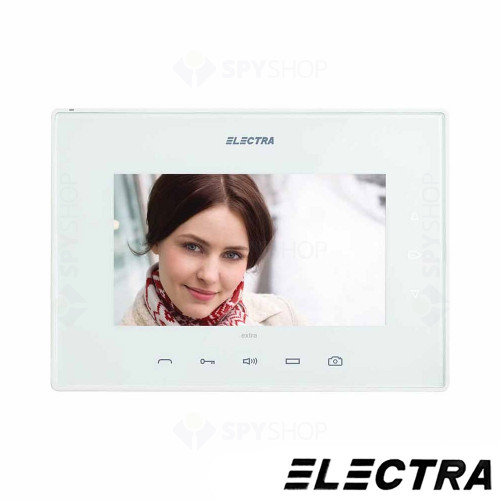 Kit videointerfon Electra Touch Line Extra VKE.P2FR.T7S9.ELW04, 2 familii, ingropat, 7 inch