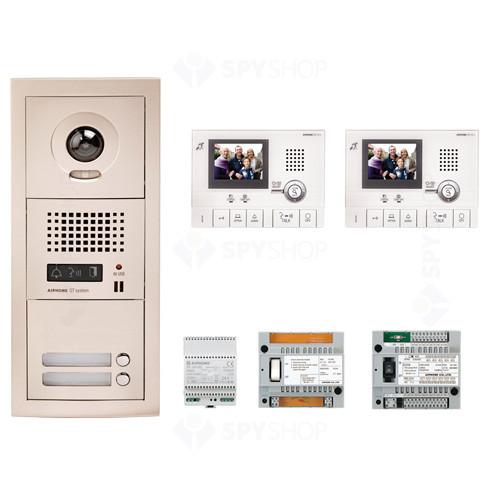 Kit videointerfon cu 2 posturi de interior Aiphone GTV2F