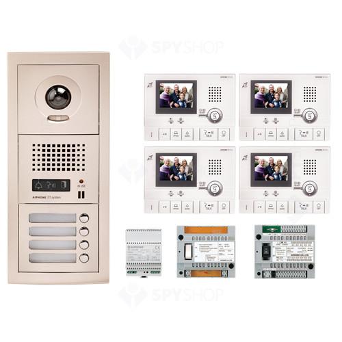 Kit videointerfon cu 4 posturi de interior Aiphone GTV4F