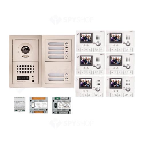 Kit videointerfon cu 6 posturi de interior Aiphone GTV6F