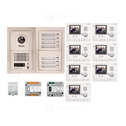 Kit videointerfon cu 7 posturi de interior Aiphone GTV7F