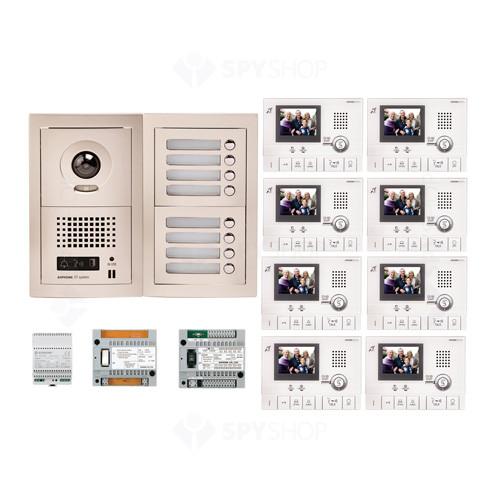 Kit videointerfon cu 8 posturi de interior Aiphone GTV8F