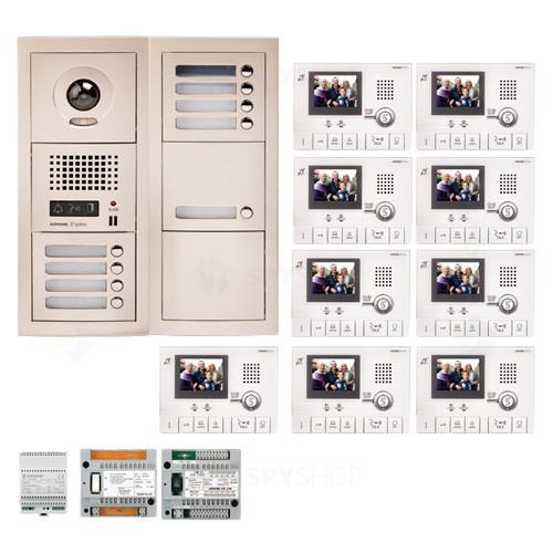 Kit videointerfon cu 9 posturi de interior Aiphone GTV9F