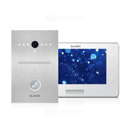 Kit videointerfon Slinex 1xUMA+1xKIARA-W, 1 familie, aparent, 7 inch