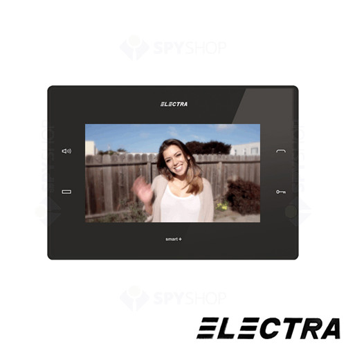 Kit videointerfon Electra Touch Line Smart+ VKM.P3FR.T7S4.ELB, 3 familii, ingropat, 7 inch