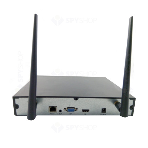 Sistem supraveghere exterior wireless, Acvil KIT WIFI-2MP-30, 4 camere IP, 2 MP, IR 25 m, 3.6 mm