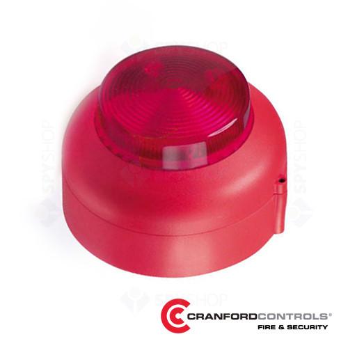 Lampa conventionala de incendiu rosie Cranford Controls VXB-1-SB-WB-RL
