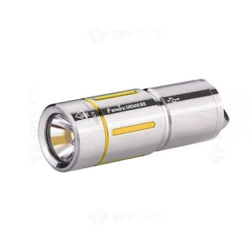 Lanterna profesionala reincarcabila Fenix UC02-SS, 130 lumeni, 48 m, auriu