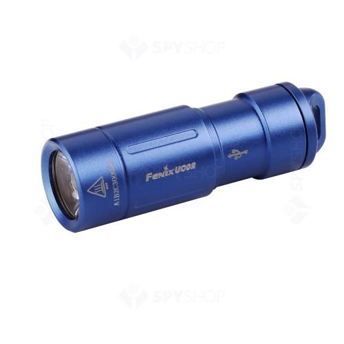 Lanterna profesionala reincarcabila Fenix UC02, 130 lumeni, 48 m, albastru