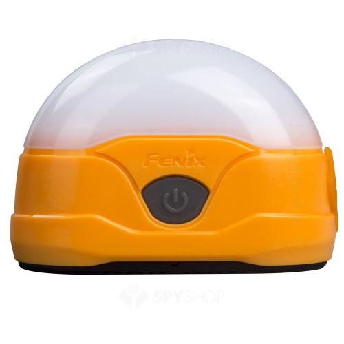 Lanterna reincarcabila pentru camping Fenix CL20R, 300 lumeni, 15 m, portocaliu