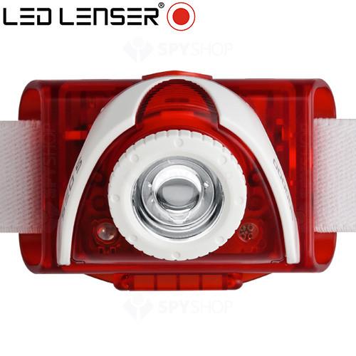 Lanterna profesionala pentru cap Rosie LED Lenser SEO5 - 180 Lumeni