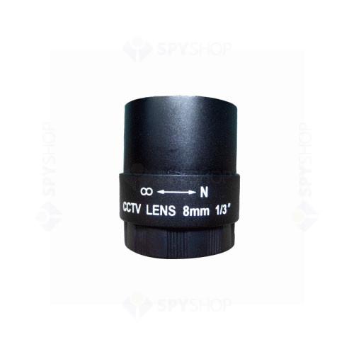 Lentila fixa de 8 mm pentru camere video