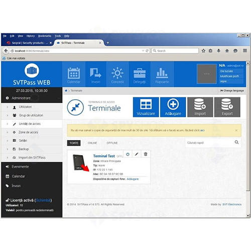 Licenta software SVT PASS WEB 100
