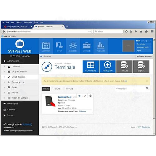 Licenta software SVT PASS WEB 1000