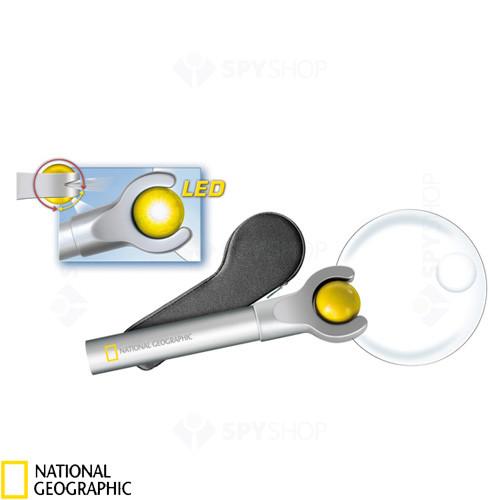 Lupa iluminata cu LED 4x National Geographic 9041000