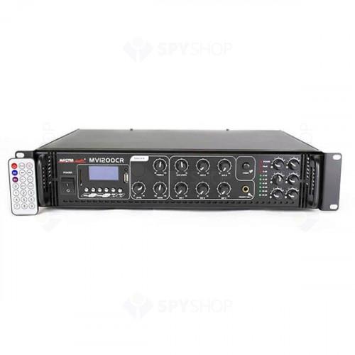 Amplificator linie Master Audio MV1200CR-Bluetooth, 100 V, 6 zone