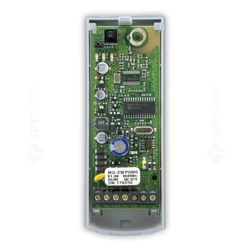 Modul PGM wireless bidirectional Paradox 2WPGM, 1 iesire, 1 intrare, emitator-receptor incorporat