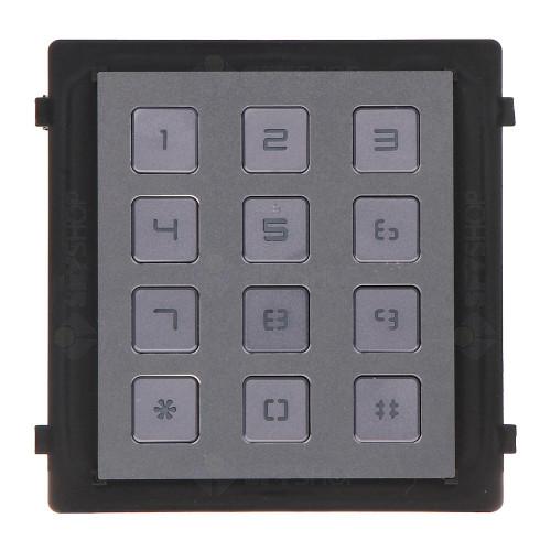Modul tastatura pentru videointerfon HIKVISION DS-KD-KP, 12 butoane, aparent/ingropat, 12 V