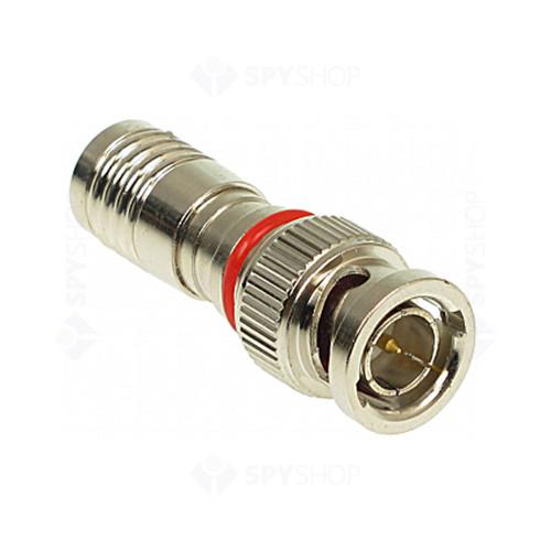 Mufa BNC pentru conectare cablu coax cu compresie CT 5062 SILVER