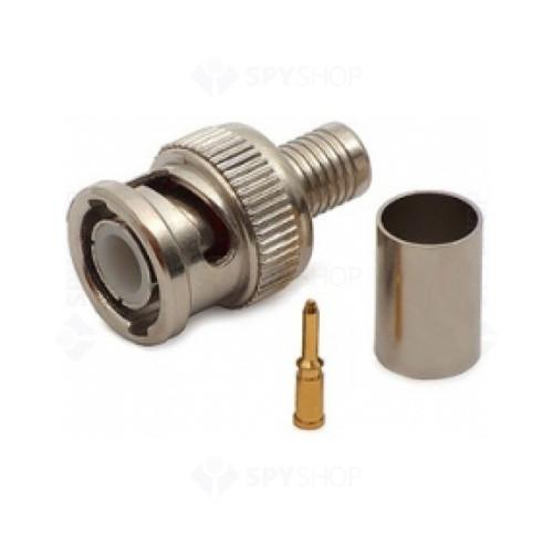Mufa BNC pentru conectare cablu coax cu sertizare W-CT5045