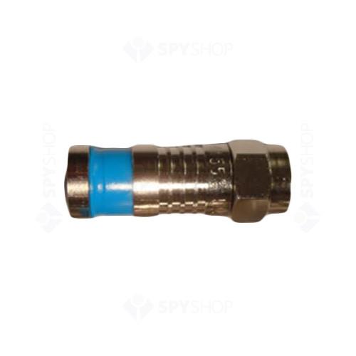 Mufa F pentru conectare cablu coax cu compresie W-CT 5083 (RG59)
