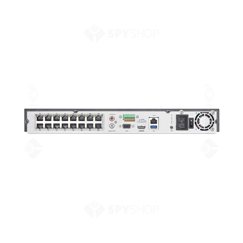 Network video recorder Hikvision DS-7616NI-I2/16P, 16 canale, 12 MP, 160Mbps, 16 PoE