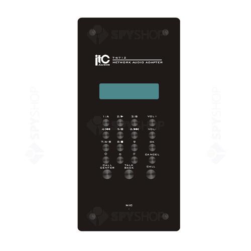 Panou cu amplificator si LCD IP Intercom ITC T-6712(D2)