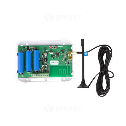 Repetor de semnal wireless Eldes EWR2, 2 zone, baterie auxiliara