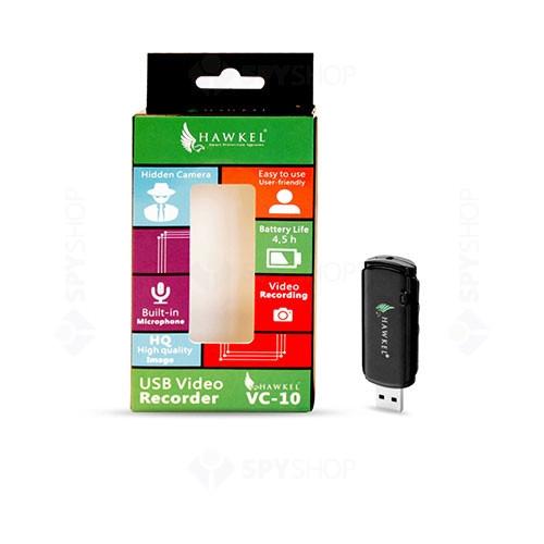 Reportofon disimulat in stick USB cu camera Hawkel VC-10,  VGA, autonomie 5 ore