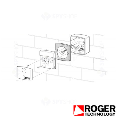 Selector cu cheie Roger Technology R85/60ES
