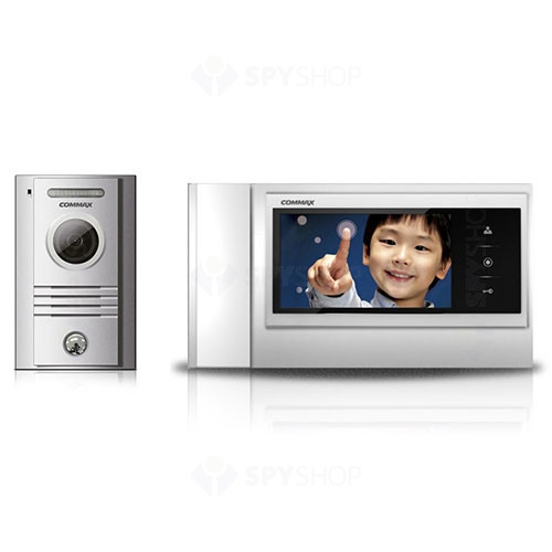Set videointerfon Commax COLOR FAM, 1 familie, 7 inch, aparent