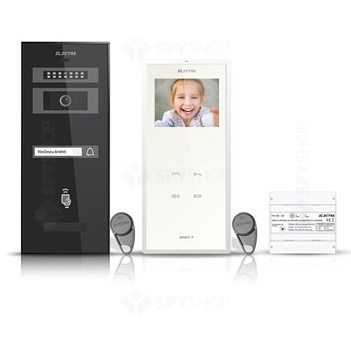 Set videointerfon Electra Smart VID-ELEC-03, 1 familie, aparent, ecran 3.5 inch