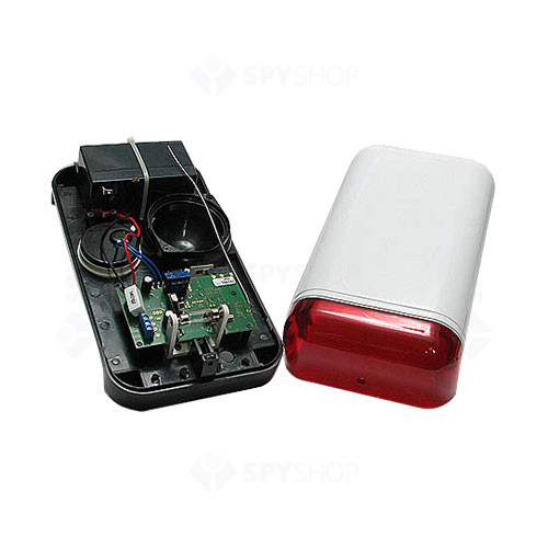 Sirena de exterior piezo cu flash Elmes WSS, wireless, 115 dB, 200 m