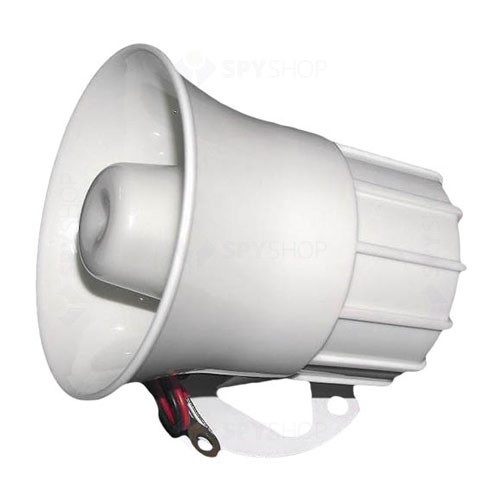 Sirena de interior tip horn Stim S1201, 120 dB, 15 W, ABS plastic