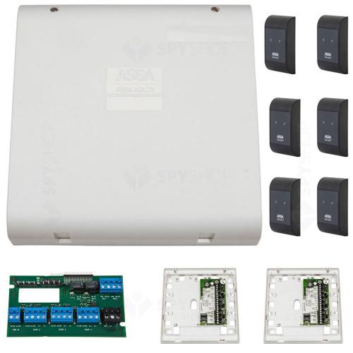 Sistem de control acces pentru 3 usi bidirectionale Assa Abloy RX WEB 9101IV-3B, 100000 carduri, 13.56 MHz