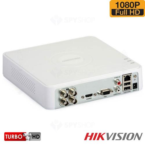 Sistem supraveghere exterior TurboHD cu 4 camere video Hikvision TVI-4EXT20-1080P-S