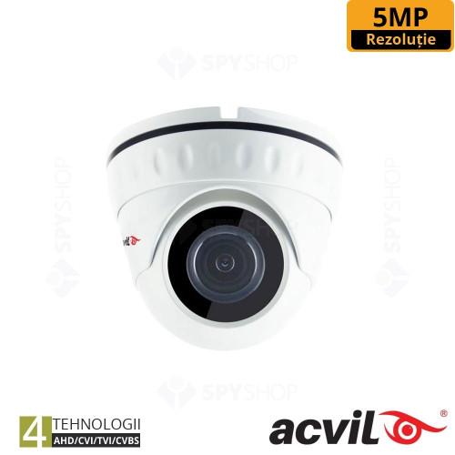 SISTEM SUPRAVEGHERE INTERIOR XVR CU 4 CAMERE VIDEO ACVIL XVR-4INT20-5M