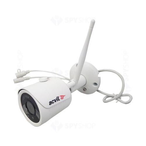 Sistem supraveghere IP exterior Acvil KIT 2 WIFI-2MP-30, 2 camere IP, 2 MP, IR 25 m