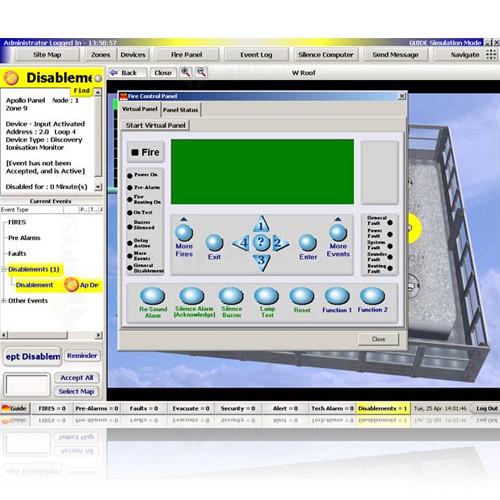 Soft grafic pentru 8 centrale Kentec Syncro guide G1008