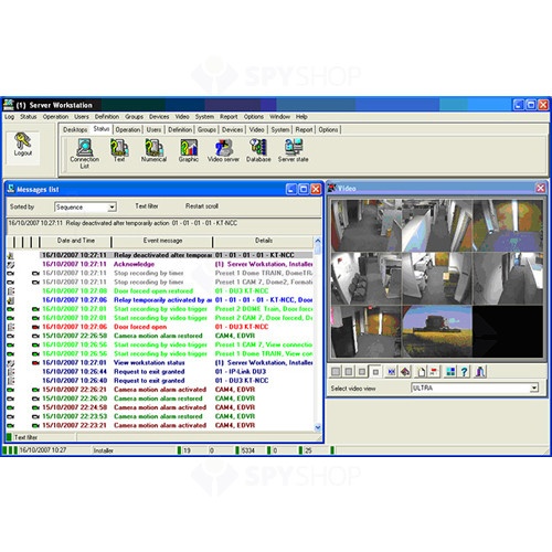 Software management control acces corporate edition Kantech ENTRA-COR, 10240 controllere