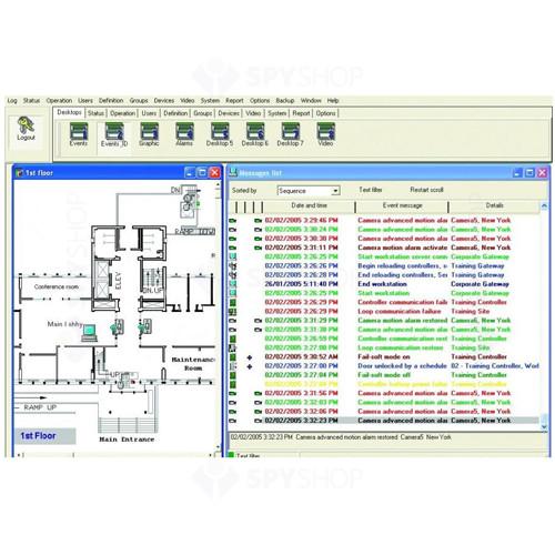 Software pentru generare rapoarte pontaj Kantech ENTRAPONT