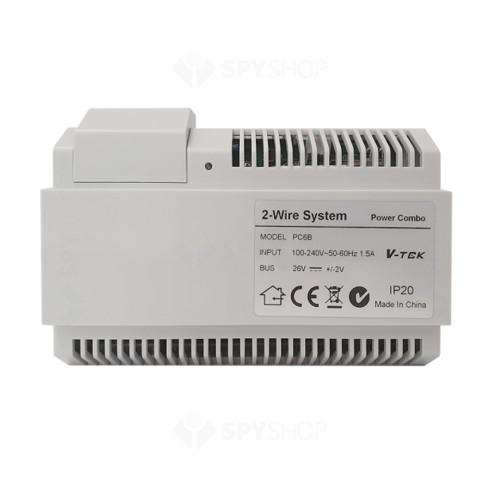 Sursa de alimentare video PC6B, 100-240 Vca, 26 V, 1.5 A