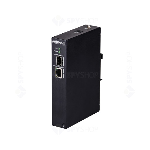 Switch cu 2 porturi Dahua PFS3102-1T, 8000 MAC, 6.8 Gbps, fara management