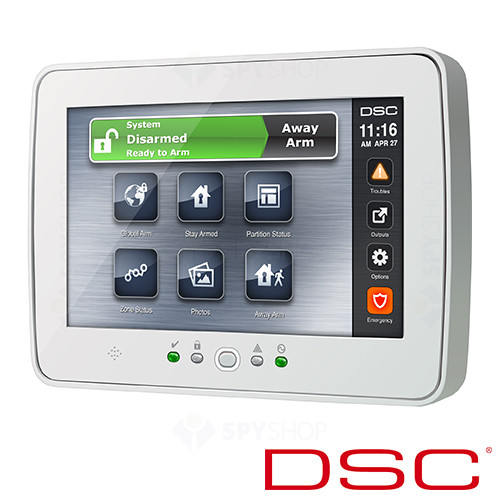 Tastatura LCD cu touch screen DSC NEO-TOUCH W