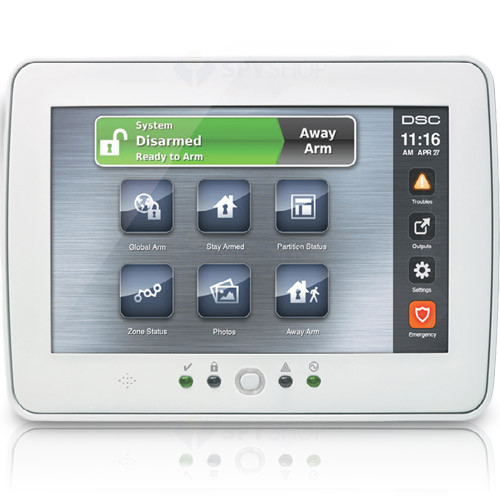 Tastatura LCD cu touch screen DSC PTK 5507W