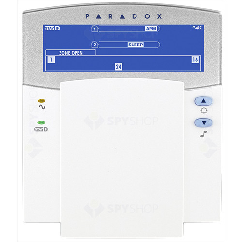 Tastatura LCD Paradox K35, 32 zone, 2 partitii, StayD