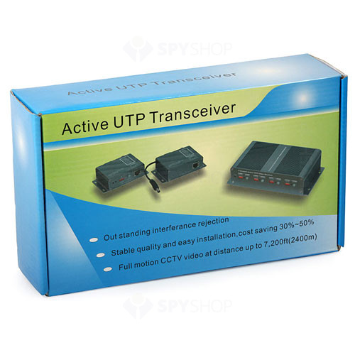 Video balun activ cu 4 canale - transmitator