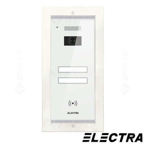 Kit videointerfon Electra Touch Line Smart+ VKM.P2FR.T3S4.ELW04, 2 familii, ingropat, 3.5 inch